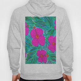 Hawaii Dreams Hibiscus Print Hoody