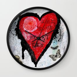 Let Your Heart Fly Wall Clock