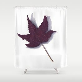 Sweet Gum Leaf Watercolor Shower Curtain