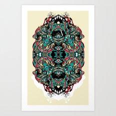 Skull Cathedral Art Print