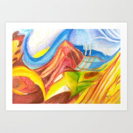 climb the mountain. the view is better up there Art Print