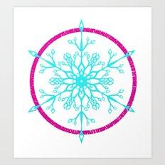 Dream-catching a Snowflake Art Print