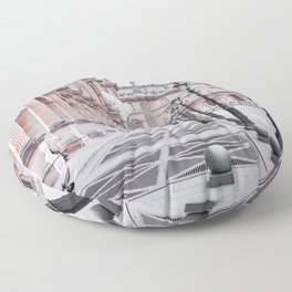 French Pigeons Floor Pillow