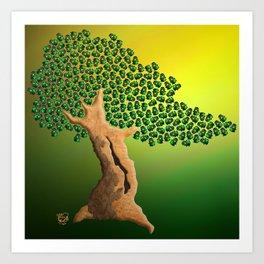 Beetle Bonsai Art Print