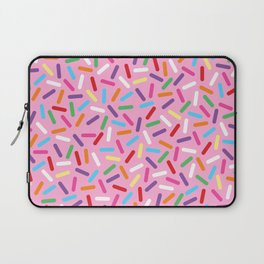 Pink Donut with Sprinkles Laptop Sleeve