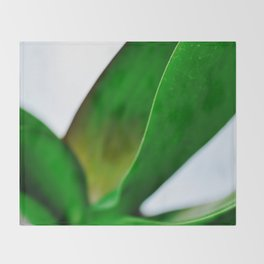 Orchid leaves Throw Blanket