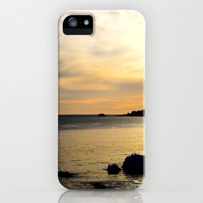 yellow sunset iPhone Case