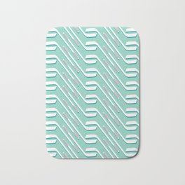Sticks On Ice Blue #society6 #hockey #sport Bath Mat