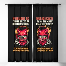 Satan loves me Baphomet Devil 666 Scientist Saying Blackout Curtain