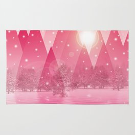 Magic winter pink Rug