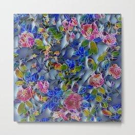 embossed floral Metal Print
