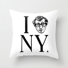 I (Woody) NY Throw Pillow