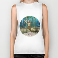 the little mermaid Biker Tanks featuring Little Mermaid by Design Windmill