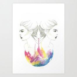 zodiac - gemini Art Print