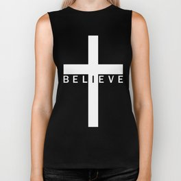 Believe Cross (Purple) Biker Tank