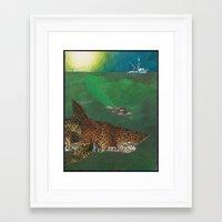 life aquatic Framed Art Prints featuring Life Aquatic  by Michael Tunk