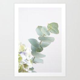 Gentle Soft Green Leaves #1 #decor #art #society6 Art Print