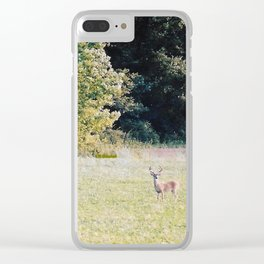 Whitetail Bucks Clear iPhone Case