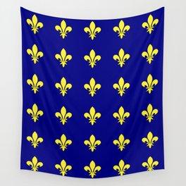 Fleur de lys 1-lis,lily,monarchy,king,queen,monarquia. Wall Tapestry