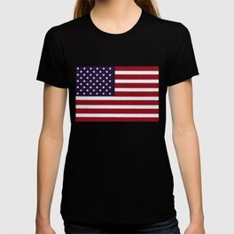 "Stars & Stripes flag, painterly ""old glory"" T-shirt"