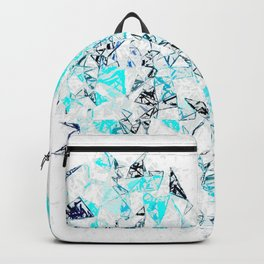 blue heart shape abstract with white abstract background Backpack