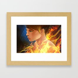 EXO D.O flame Framed Art Print