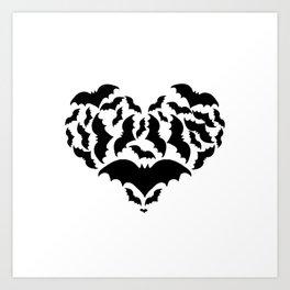Batty Love Art Print