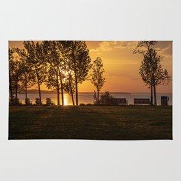 Sunset on the Lake Rug