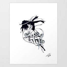 Poulpe De Ballet Art Print