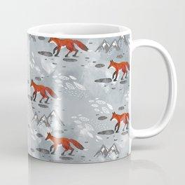 Little Mountain Foxes Grey Coffee Mug