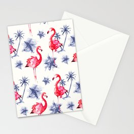 Beach Flamingos Stationery Cards
