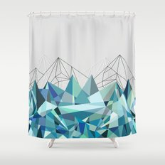 Colorflash 3 Turquoise Shower Curtain
