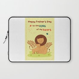 Fathers day lion  Laptop Sleeve