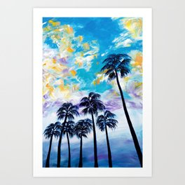 Oceanside Palm Trees Art Print