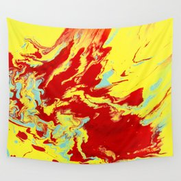 Crimson Wave Wall Tapestry