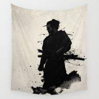 samurai Wall Tapestries featuring Samurai by Nicklas Gustafsson