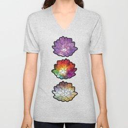 Galaxy Succulents Unisex V-Neck