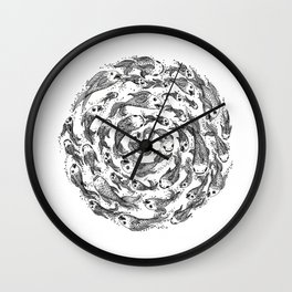 swimming in circles Wall Clock
