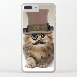 Mister Cat Clear iPhone Case