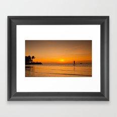 Sunset paddleboarding Framed Art Print