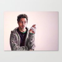robert downey jr Canvas Prints featuring Robert Downey Jr. by Morgane Dagorne