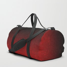 Red & Black Glitter Gradient Duffle Bag