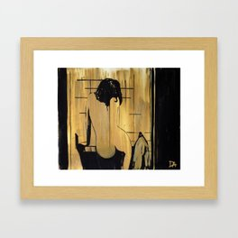 freeze-frame Framed Art Print