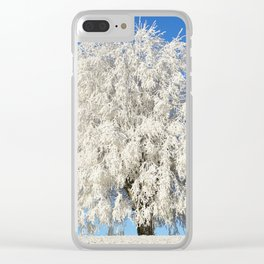 Frost Covered Tree Clear iPhone Case