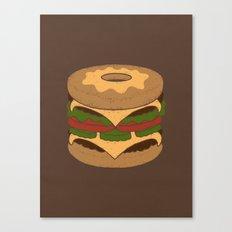 Donut Burger Canvas Print