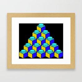 Rhomblocks Framed Art Print