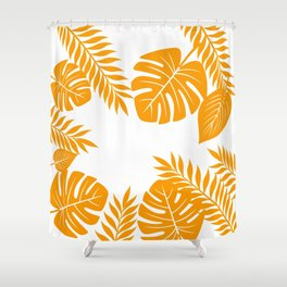 Paradise in Tangerine Shower Curtain