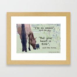 Your Heart is BIG Framed Art Print