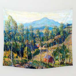 Ernest Lawson New England Birches Wall Tapestry