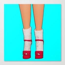 Socks & Stilettos! Canvas Print